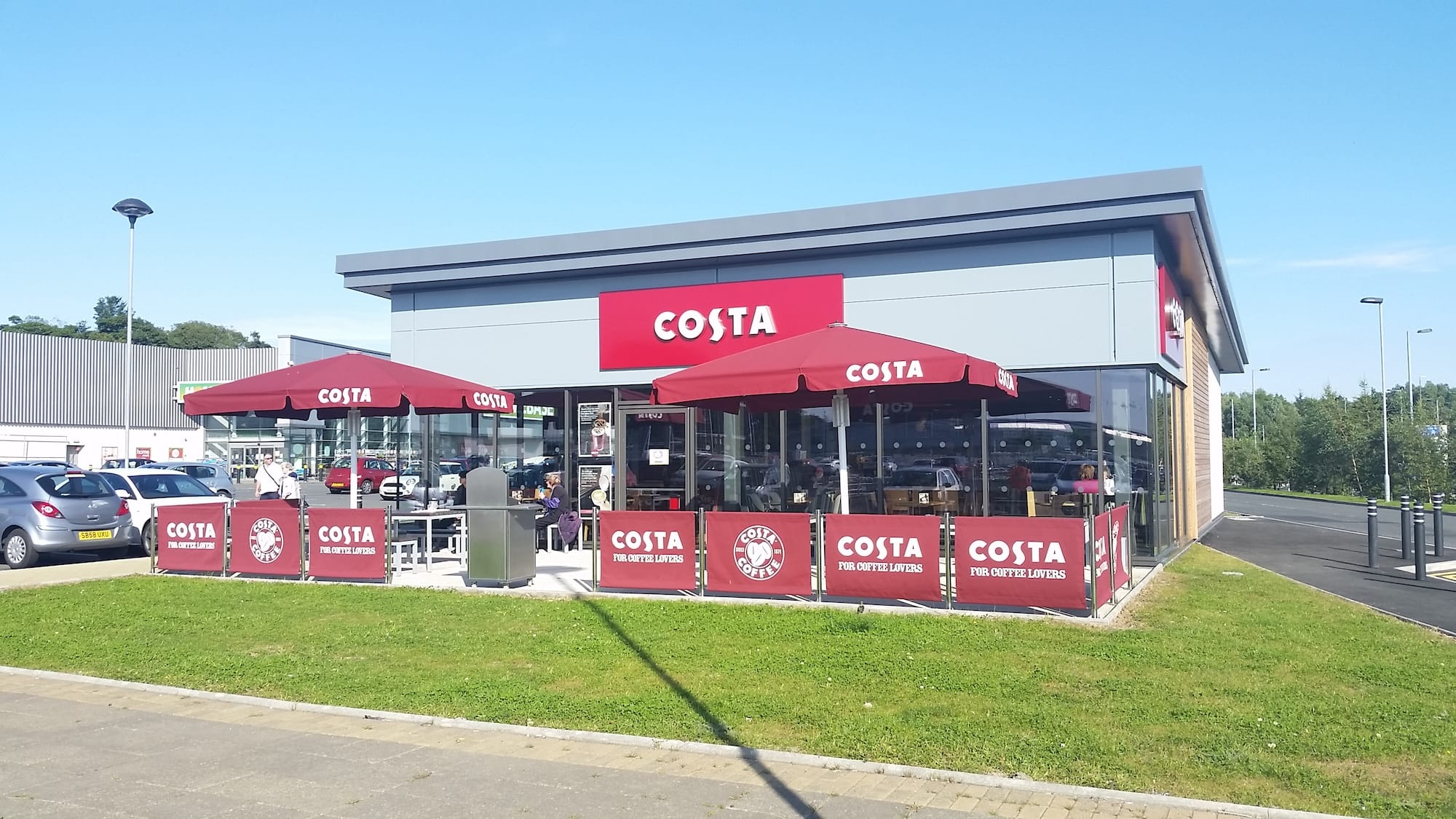 Costa On Site At Nether Auldhouse Retail Park Glasgow Ediston