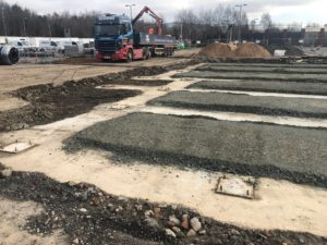 Burger King foundations poured